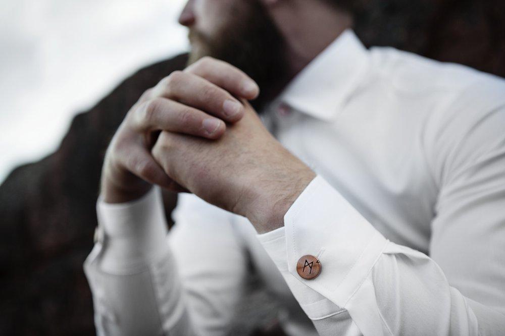 Runa of Sweden worn as a cufflink