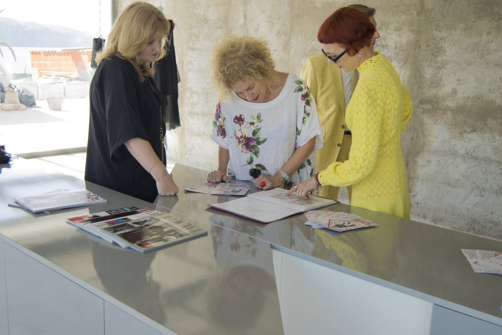 Alison Lowe, Shelley Pick and myself @FashionSpaceArt