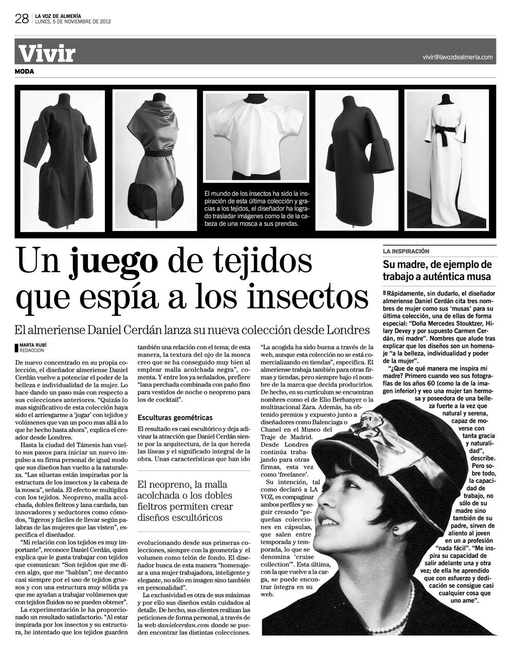 La Voz de Almería interview