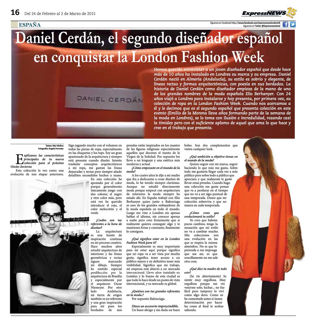 Express News Newspaper Interview