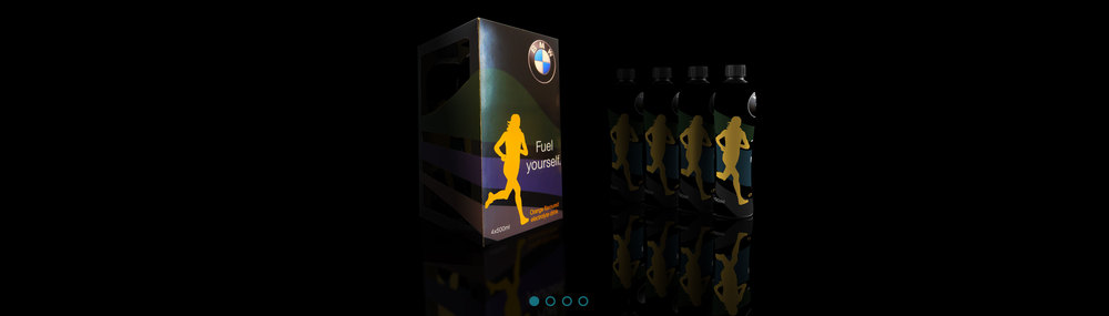 Branded Sports Bottle Packaging - BMW