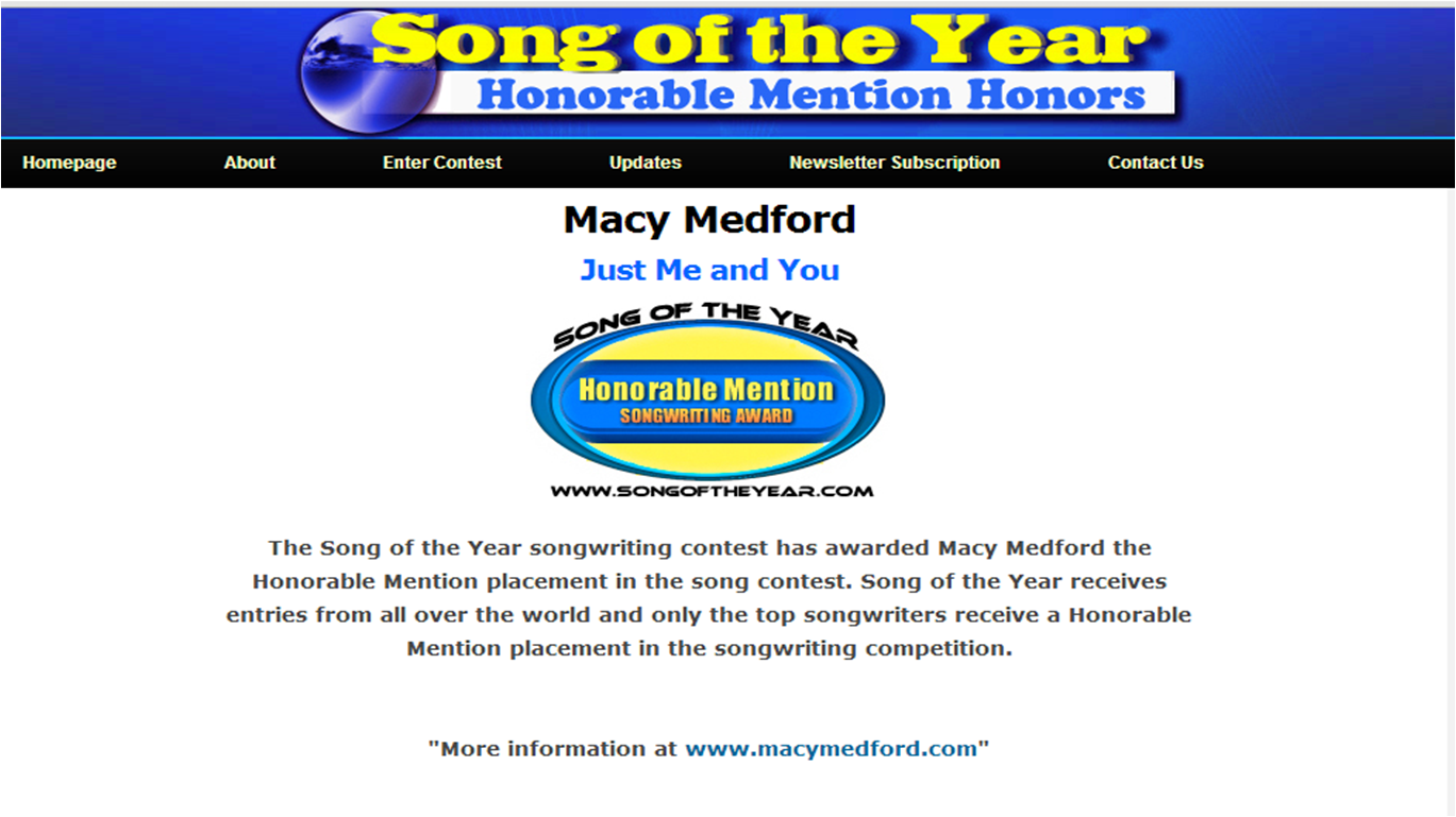 Honorable_Mention_Song_Of_The_Year_Macy_Medford