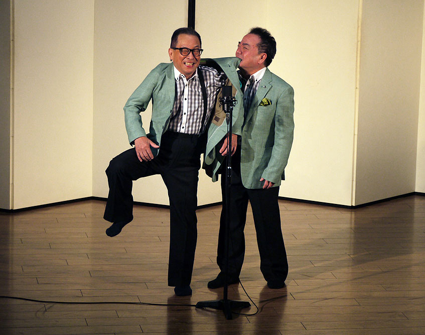 With 50 years on stage the duo of Harukaze Fukuta Kōta know how to get the laughs.