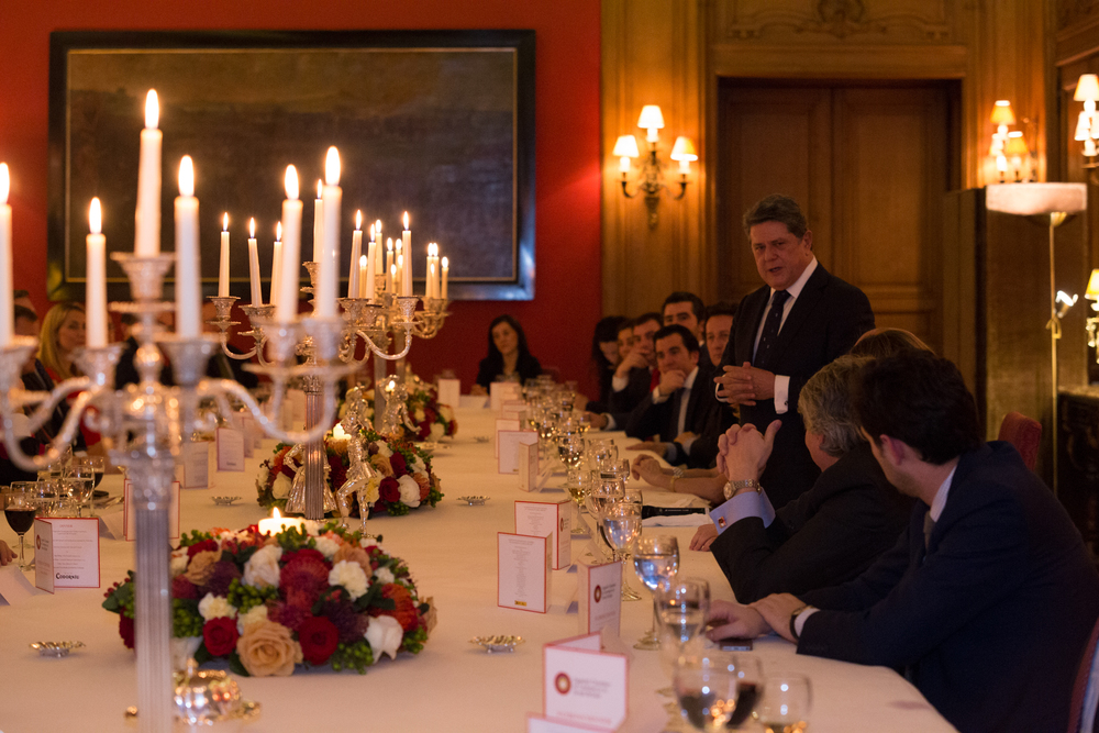 Federico Trillo-Figuero speaks at the Spanish Chamber of Commerce Patrons' Dinner at Spanish Embassy, London 2015