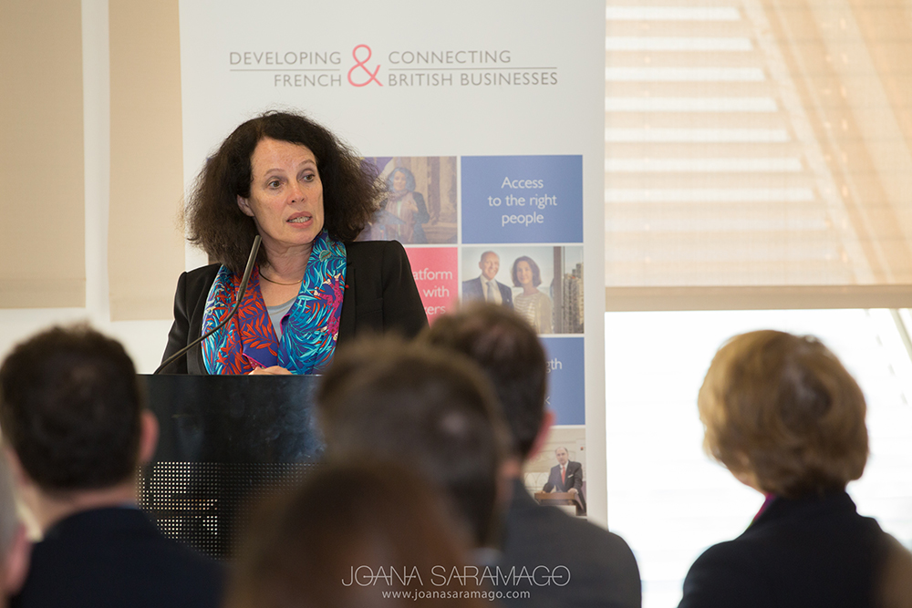 Sylvie Bermann, French Ambassador to the UK, speaks at the French Chamber of Commerce Annual General Meeting, London 2016.
