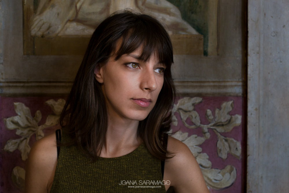Sofia Tonicher posing next to a fresco in Palacio Chiado, Lisbon — all rights reserved 2016©Joana Saramago