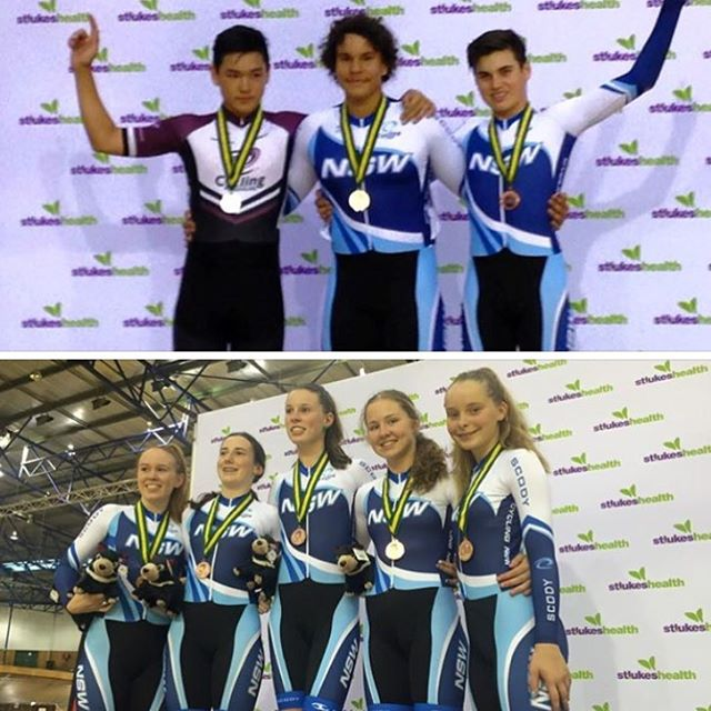 Bronze medal in the sprint for Ed and bronze in the team pursuit for Kate. #teamwagga