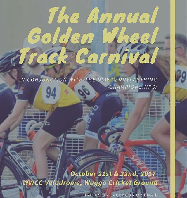 Entries close tonight for Wagga Golden Wheel Track Carnival. Get on board. #wagga @kidsons_cycles @waggacyclecentre #waggacylcling @wagga_gearsandbeers