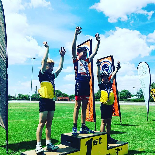 First medals at the WAGGA Golden's Wheel carnival. #wagga #waggawagga @cyclingaustralia @nswcycling