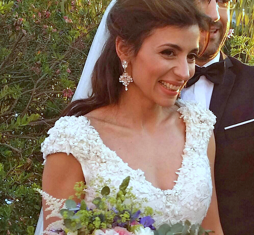 Beautiful Greek Wedding - Custom earrings