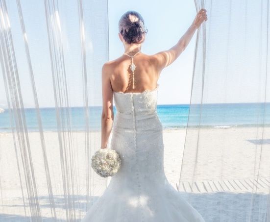 Beautiful Beach Wedding - Custom Pearl Necklace