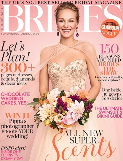 Featured in Brides Magazine for the Sep/Oct issue 2017! - Two of our unique designs from the gold collection are featured in this issue. The 'Gilda' earrings and the 'Tabitha' earrings.