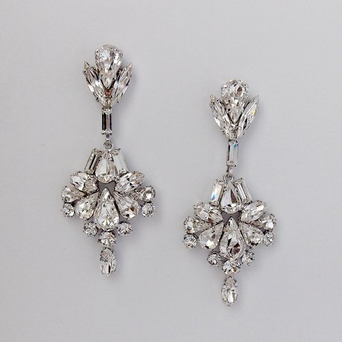 SCARLETTE DECO INSPIRED CRYSTAL CHANDELIER EARRINGS