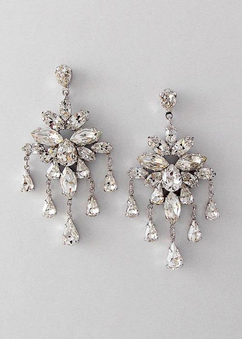 Capri Bridal Jewelry MARLENA DuPELLE – Chandelier Crystal Earrings