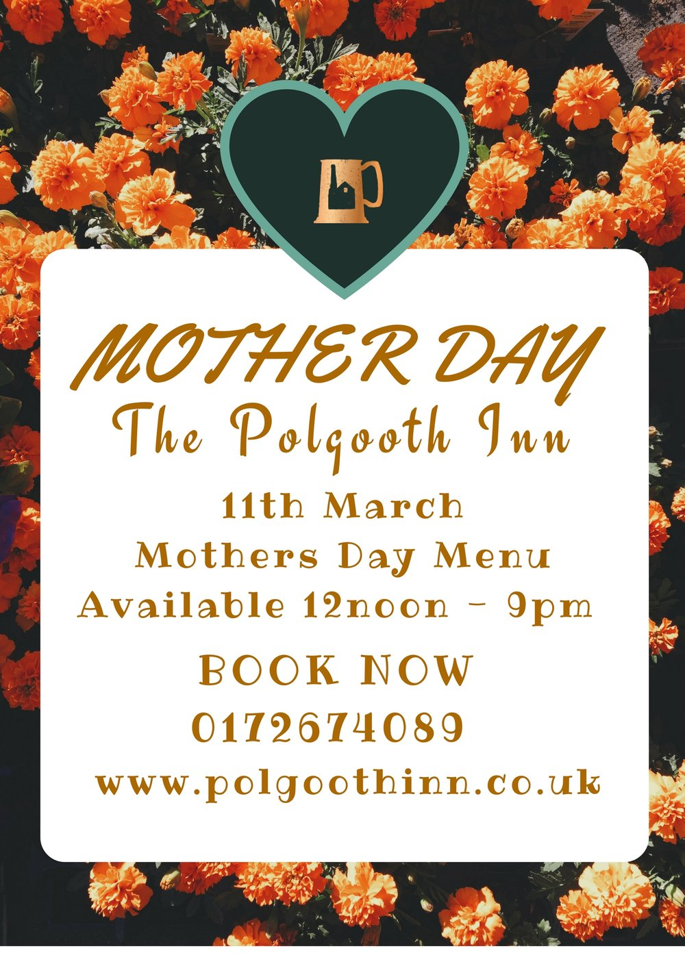 Book Now For Mothers Day 0172674089