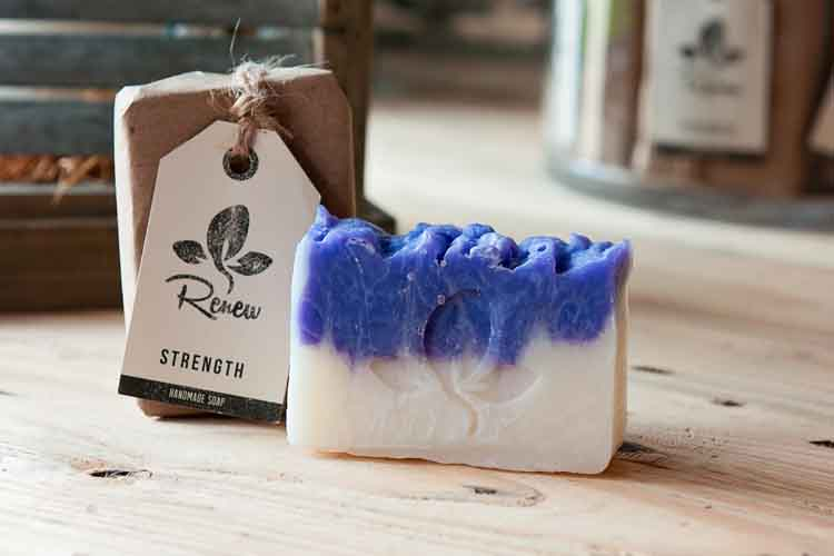 "Strength Soap  "" But thoses who trust in the Lord will find new strength.""(Isaiah 40:31a)  Shannon's Story: By having trust in Jesus, Shannon has discovered a strength that sustains through every part of life.  Shannon has chosen Organic Lavender and Orange essential oils to represent the strength she has found in Christ.   PURCHASE SOAP HERE"