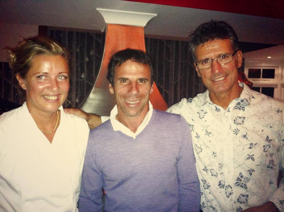 Sergio & Jo with football legend Gianfranco Zola who visited the restaurant earlier this year!