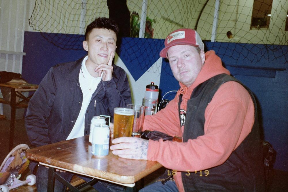 Here Bing and Craig enjoy a beer at Hop Kingdom.
