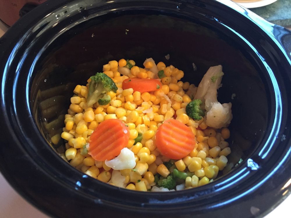 USE A SLOW COOKER FOR PERFECTLY STEAMED FROZEN VEGETABLES!