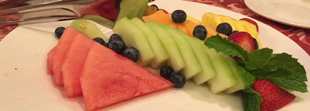 Bathing suit friendly fruits make a very rewarding dessert - sweet, cool, nutrient rich and good for you!