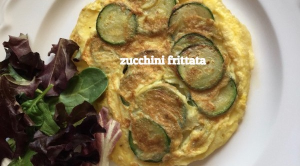 A zucchini frittata makes the perfect lunchtime meal - just add some whole grain bread and a milk and you have a lunch that in not to be missed!