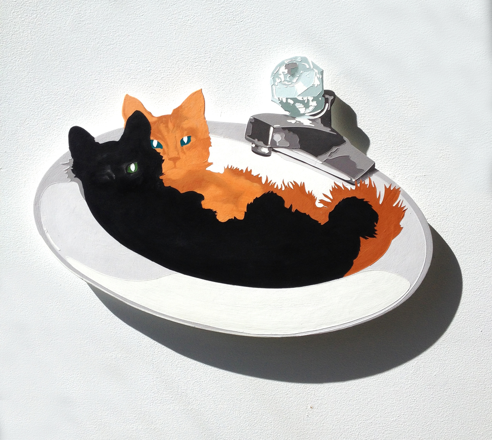 "Lori Larusso, ""Sink Kitties"" (2014)"