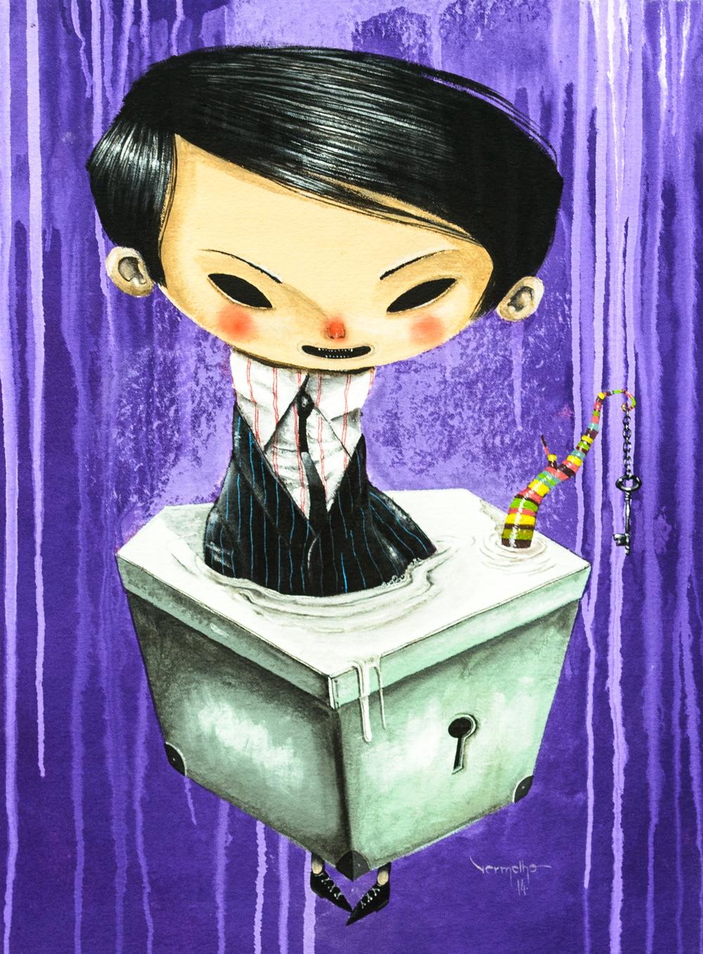 """Vermelho, """"A Caixa de Elliot (Elliot's Box)"""" (2014)"""