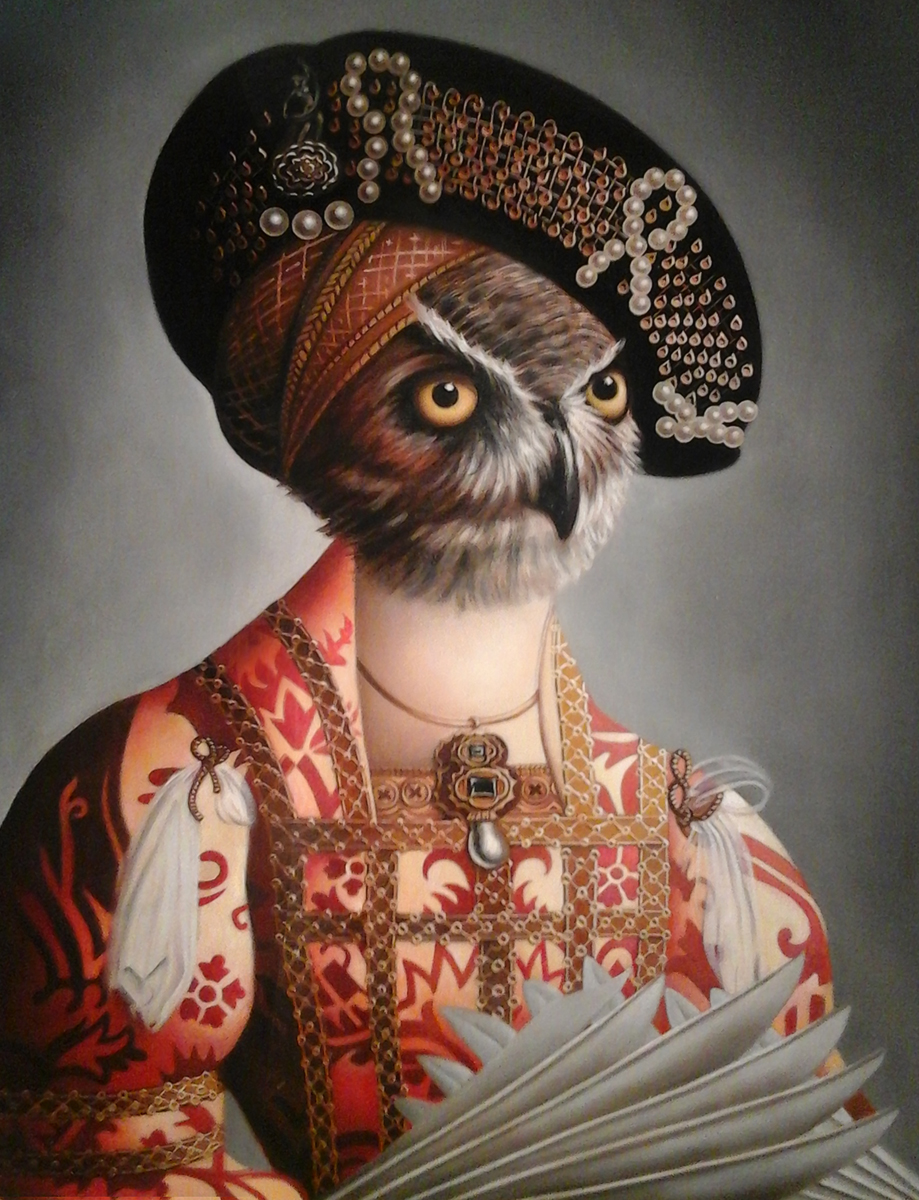 "Amy Hill, ""Ornate Owl"" (2015)"