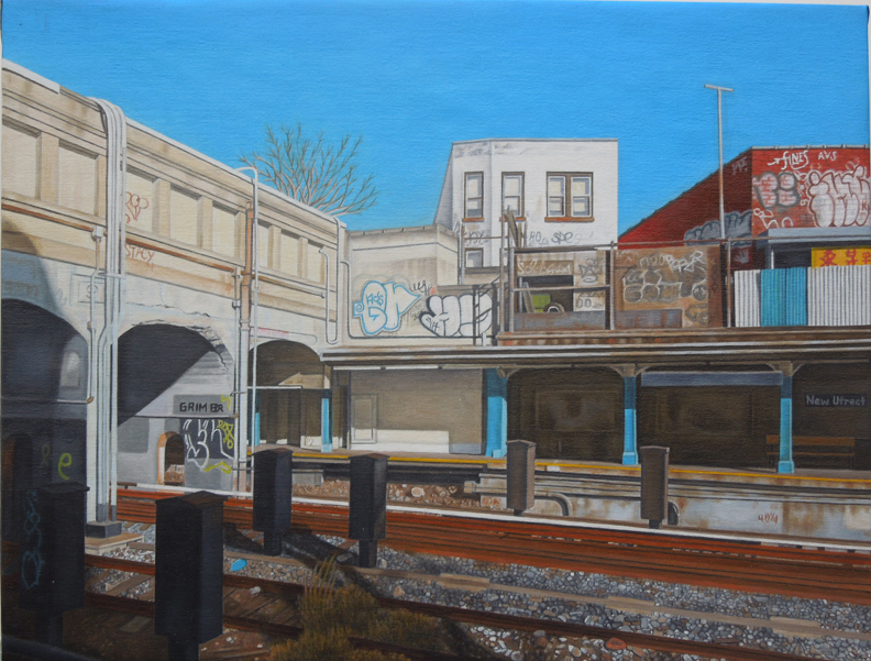 "Laura Shechter, ""New Utrecht Station, N Train II"" (2013)"