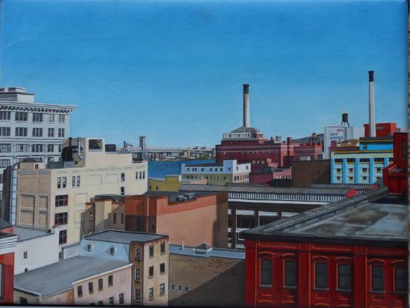 "Laura Shechter, ""View from the Manhattan Bridge IV"" (2012)"