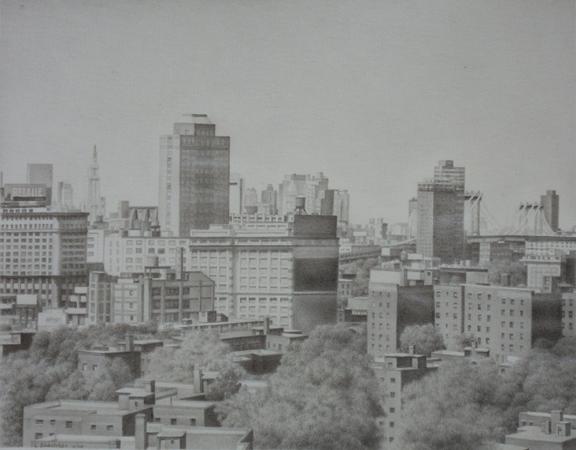 "Laura Shechter, ""Brooklyn Bridge from Brooklyn"" (2008)"