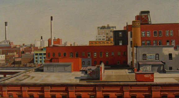 "Laura Shechter, ""View from the Manhattan Bridge"" (2010)"