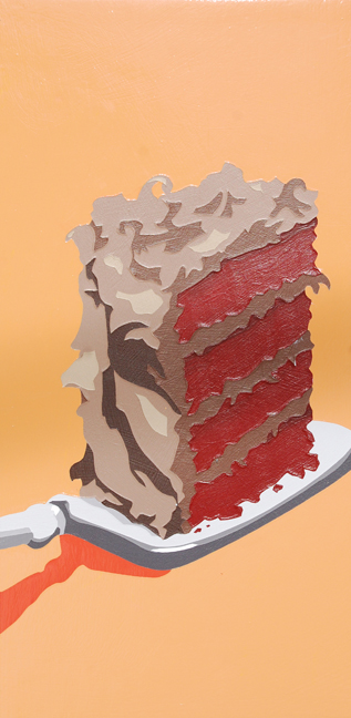 "Lori Larusso, ""Single Slice (Red Cake)"" (2013)"