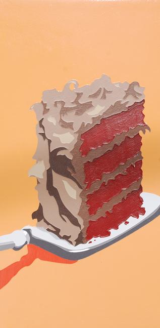 "Lori Larusso, ""Single Slice (Red Cake)"" (2013)"