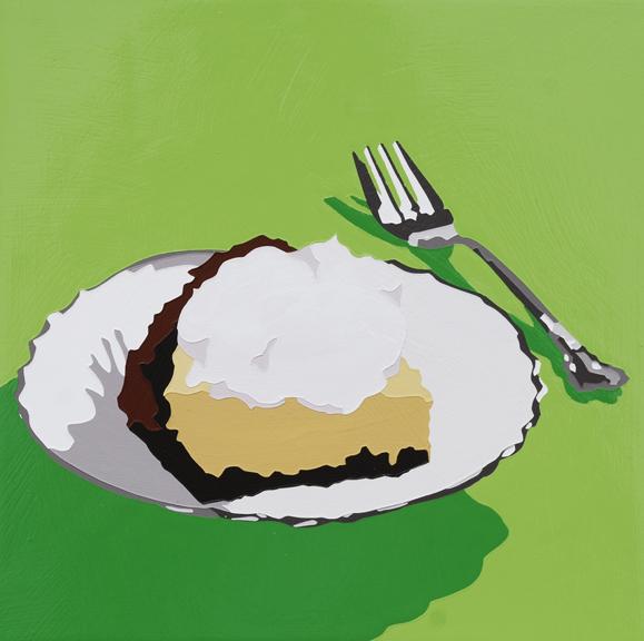 """Lori Larusso, """"Single Slice (Pie on Green)"""" (2013)"""