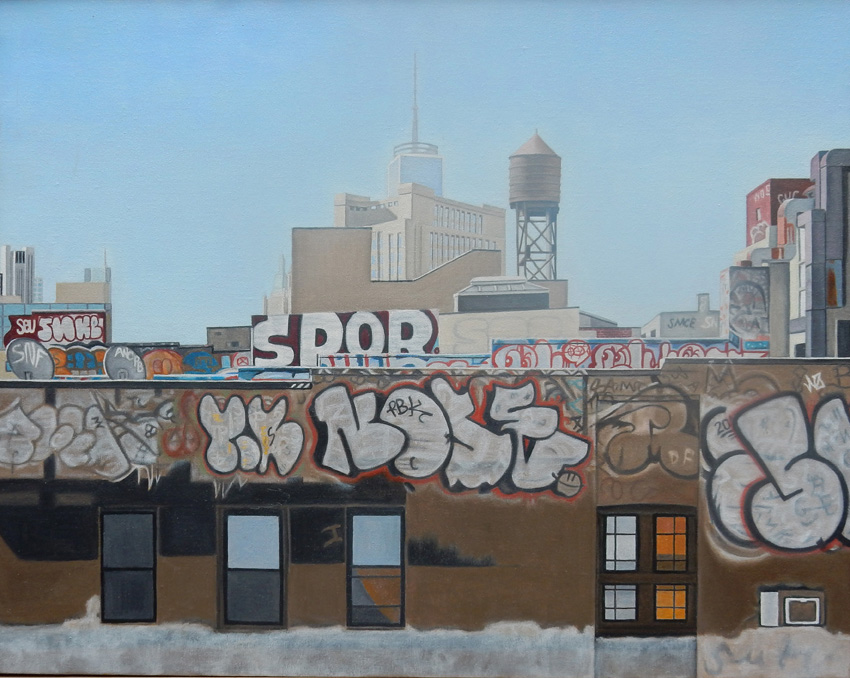 "Laura Shechter, ""Chinatown From the Bridge"" (2015)"