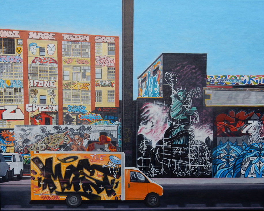 "Laura Shechter, ""Graffiti Scapes, LIC"" (2015)"