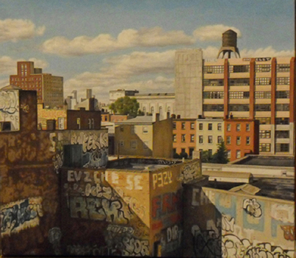 "Laura Shechter, ""Painted Wall, Williamsburg"" (2006)"
