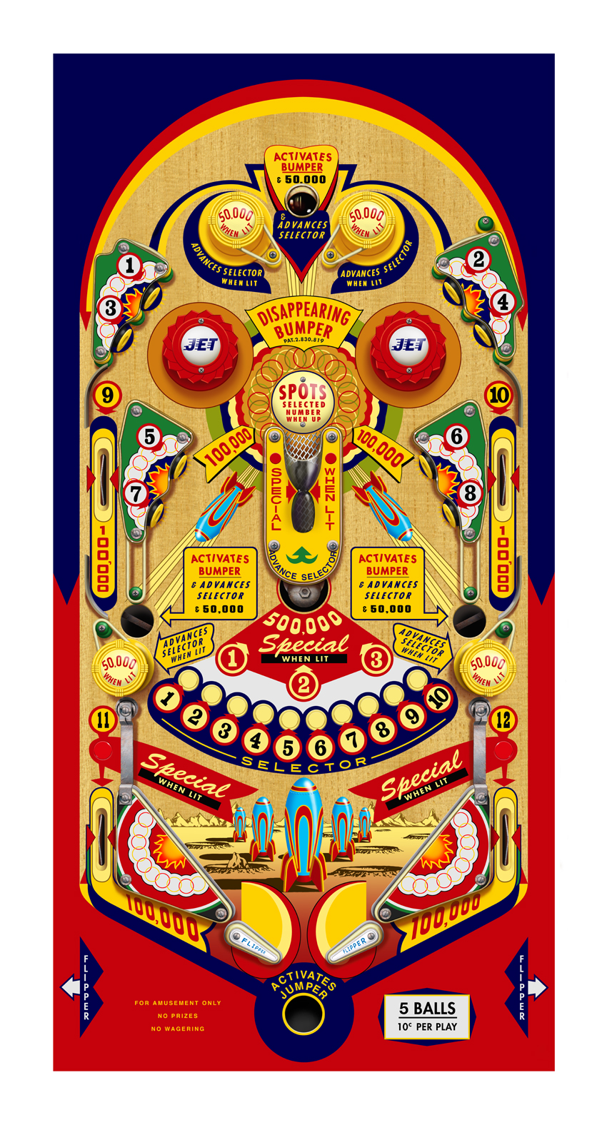 "Terry Pastor, ""Pinball Top"""