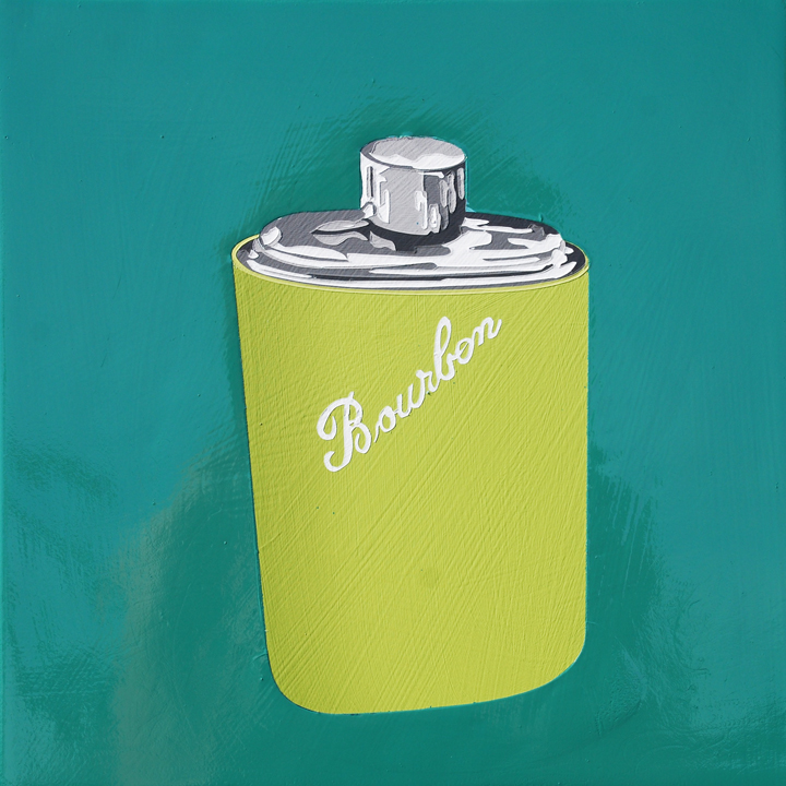 Larusso_BourbonFlask_2015_acrylic and enamel on panel_10x10.jpg