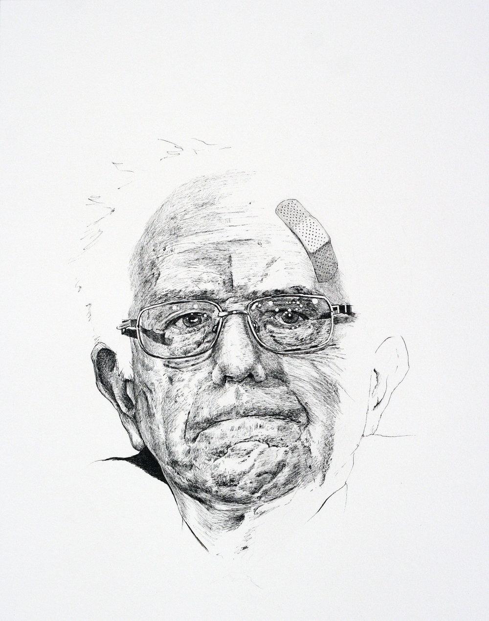 Tafur_Bernie Sanders Unfinished(2017)_pen on paper_14x11_unframed.jpg