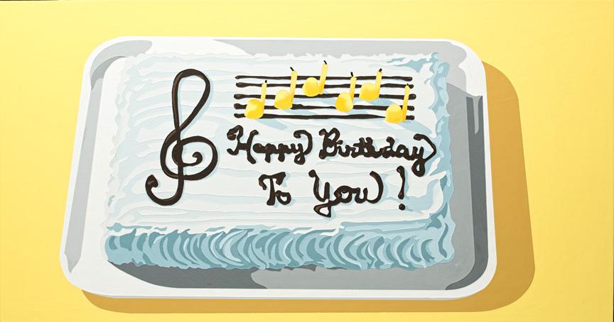 LarussoLori_It'sNotMyBirthday,That'sNotMy(Musical)Cake_2012_acrylicAndEnamelOnPanel_19X35x1in.jpg