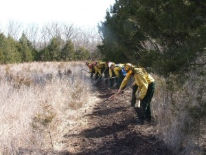 Fire line work near Leon, KS 2010""