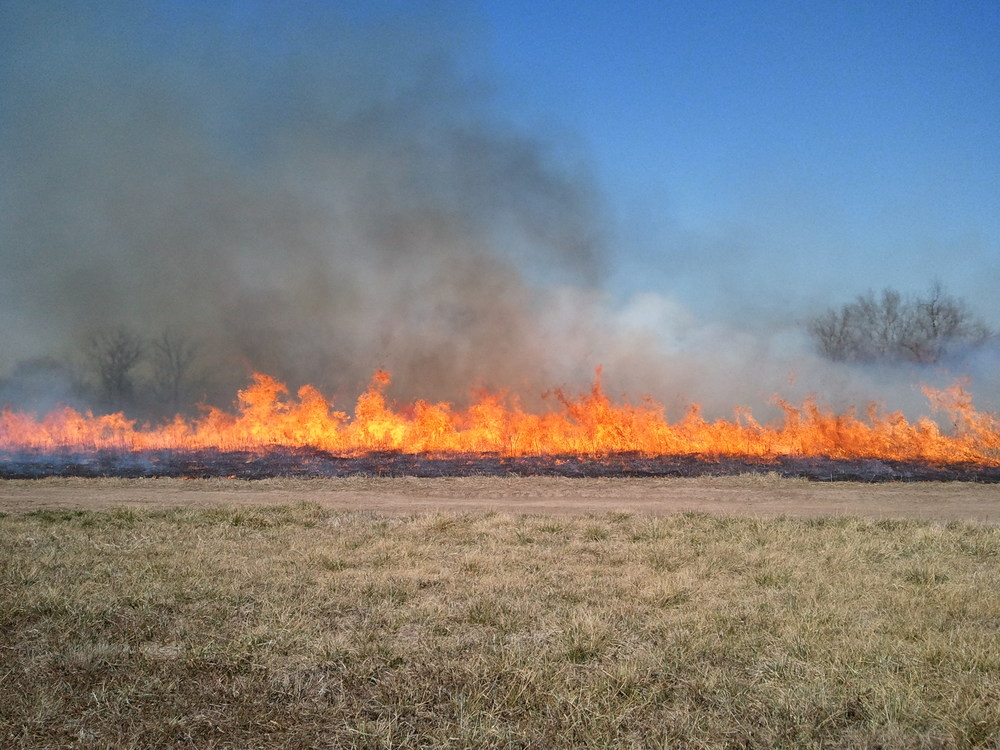Prescribed fire at George Washington Carver National Monument, 2012