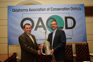 "Oklahoma Chapter of The Nature Conservancy Executive Director receiving the 2015 OPBA ""Friend of Fire"" award."