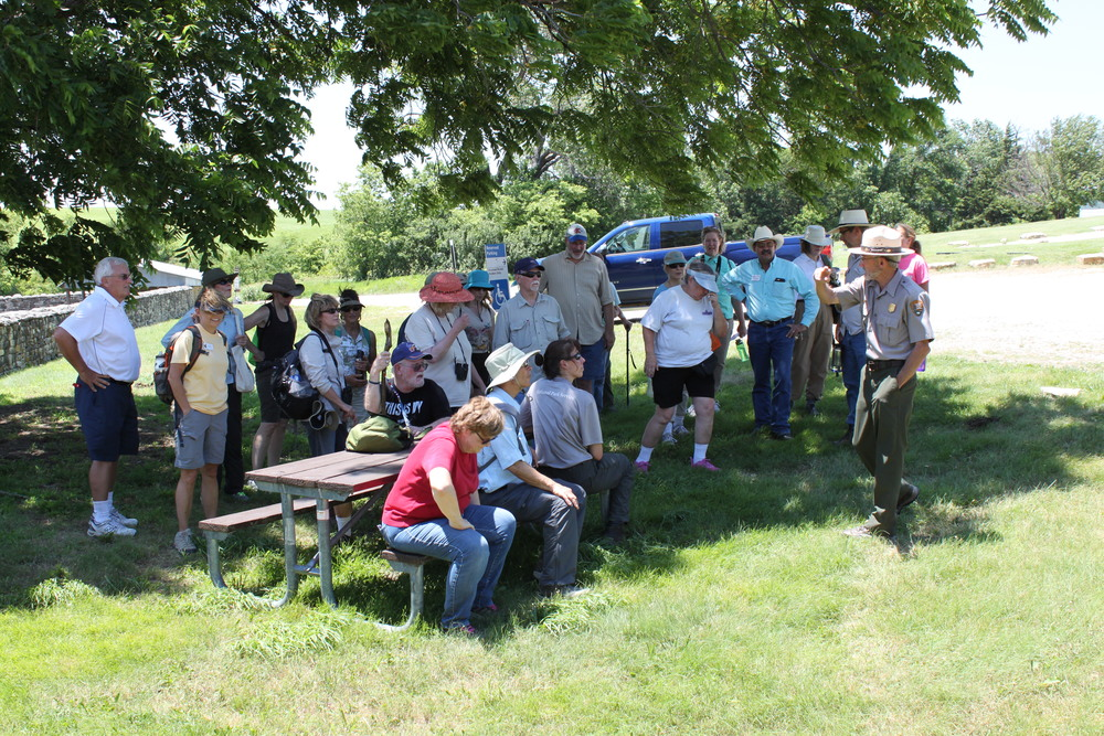 Kansas Master Naturalists learn about the Tallgrass Prairie National Preserve. Photo by Dan Lekie.