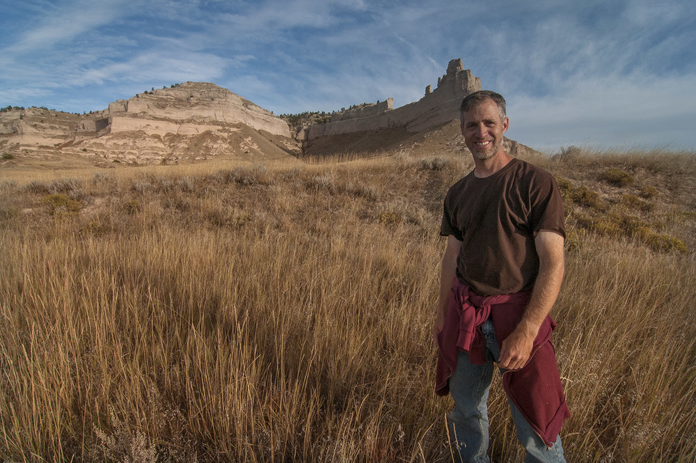 Chris helzer at scotts bluff national monument.
