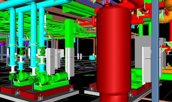 An example of a HVAC BIM model
