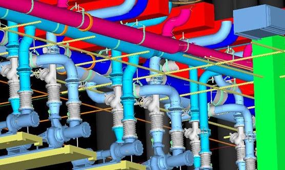 An example of a plumbing BIM model