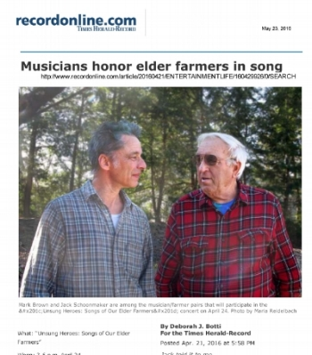 We co-produced this wonderful project for the Rondout Valley Growers Association and SageArts.  CLICK  to see the whole article.